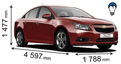 Chevrolet CRUZE SEDAN - 2009