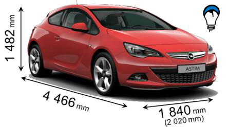 Opel ASTRA GTC - 2012