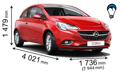 Opel CORSA 3P - 2015